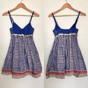 Free People Tribal Burlap Trim Dress Size 4
